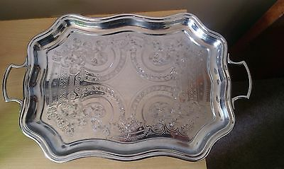vintage 1950s chrome tray with handles