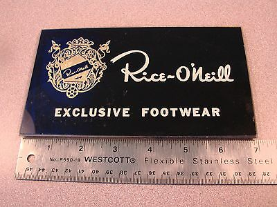 Vtg. Rice-O'neill Footwear Shoe Store Display Advertising Sign