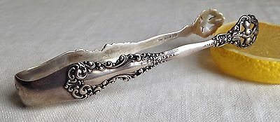 Sterling Silver Sugar Tongs Fancy Open Spoons 25 G Hallmarked Antique 4.5""