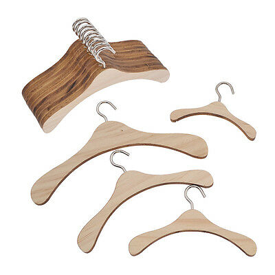 Lot of 10 Wooden Hangers BJD Dollfie Doll Clothes Kidswear Dolls Baby Clothing