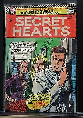 SECRET HEARTS #114 1966-DC-comic book REACH FOR HAPPINESS SERIES