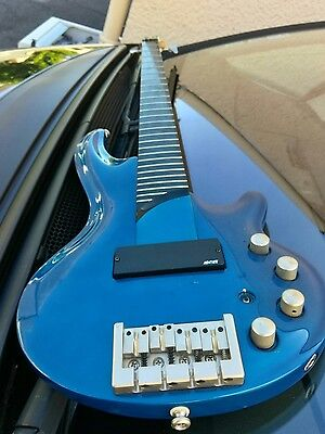 Cort CURBOW Electric Four String Bass Guitar Blue Active