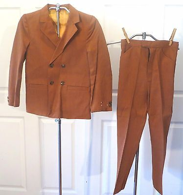 Vintage 50s 60s Boys Suit Blazer Jacket Pants Dead Stock sz 10