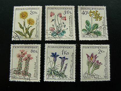 CZECHOSLOVAKIA 1960 Flowers set - used mixed condition