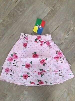 Pex Girl's Summer Skirt Frill Age 12 Months Pink Brand New By Pex!