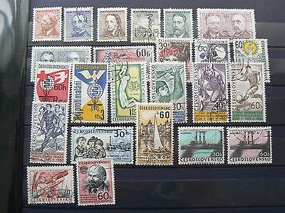 CZECHOSLOVAKIA 1962 selection - all shown
