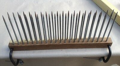 Hackle (double row tines) and diz for wool 52 cm ( 20 inchs )Danilov