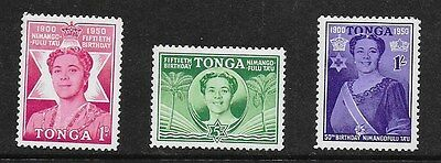 Tonga 1950 Queen Salote's 50th Birthday - MH