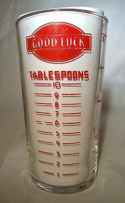 Vintage Good Luck Brand 1 Cup Measuring Glass