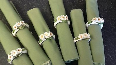Country cottage vintage napkin rings and napkins