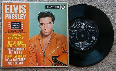 "ELVIS PRESLEY - 7"" vinyl EP ( UK ) LOVE IN LAS VEGAS"