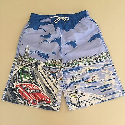 Mini Boden AWESOME BOYS Blue Swim Shorts.Size 9-10 years.Worn and washed 1 time!