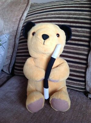 Large Sooty with wand plush toy.