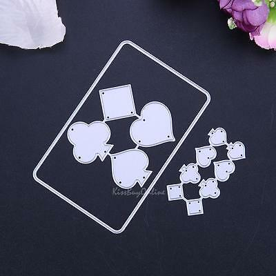 Playing Cards Metal Cutting Dies DIY Stencil Scrapbooking Album Paper Card Craft
