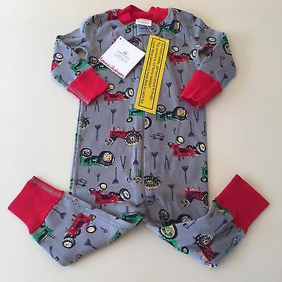 HANNA ANDERSSON  Boy's Tractor Pajama, Size 70 (9-12 months) New With Tags!!