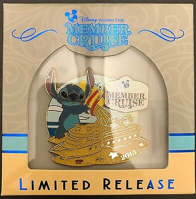 NEW Disney Vacation Club DVC Member Cruise Bahamas 2016 STITCH Pin In Box