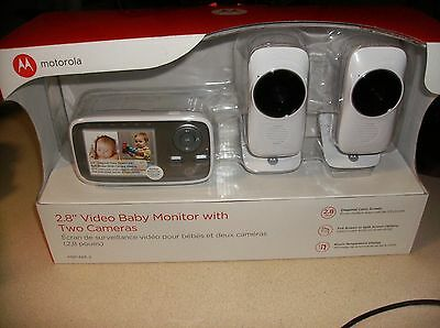 """Motorola 2.8"""" Video Baby Monitor with Two Cameras MBP483-2 *NEW*"""