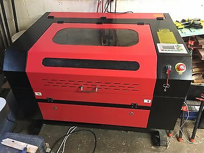 CO2 Laser Engraver 28x20 60W comes w/ Ethernet & USB Interface + Rotary Axis