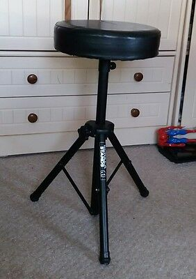 Gorilla Drum Kit Stool Throne Padded Seat Stand Music Band Chair Black Foldable