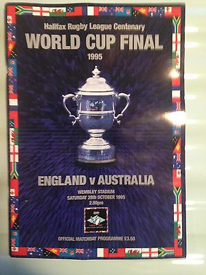 The Halifax Rugby League Centenary World Cup Final Programme 1995