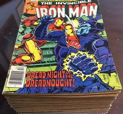 Lot of 50 Invincible Iron man 129 134 144 147 150 153 158-200 complete run + A 5