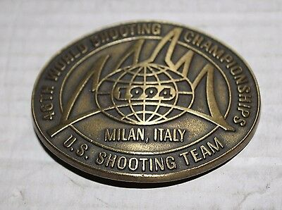 United States 46 World Shooting Team Championships Milan Italy 1994 Belt Buckle