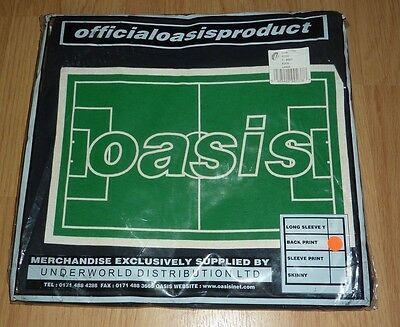 Oasis football pitch T-shirt (official, rare, 1990s NEW)