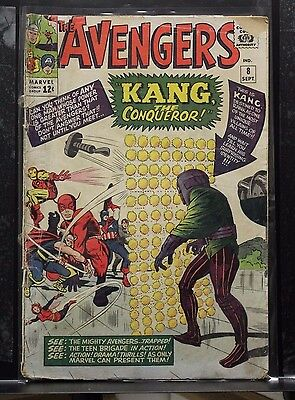 The Avengers 8 Marvel 1964 1st app Kang the Conqueror (Nathaniel Richards)