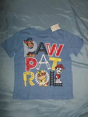 Paw Patrol Toddler Boys Short Sleeve T-Shirt  Size 3T   NWT Blue