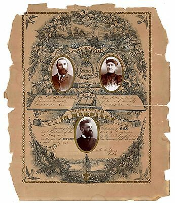 Marriage Certificate:  1895  Christner - Frickey Somerset PA
