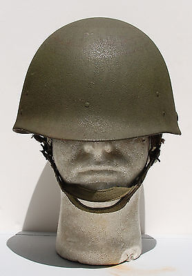 Us Airborne Paratrooper Firestone Helmet Liner 4 Hole Chin Cup Khaki A Yokes