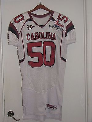 Official South Carolina Gamecocks Chick-Fil-A Bowl Game Jersey #50 A.J. Cann