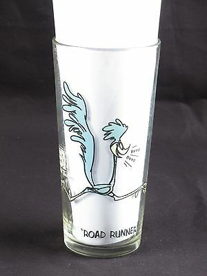Road Runner glass Pepsi vtg Collector Series 1973 drinking Looney Tunes