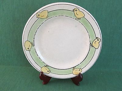 Vintage Children's Dining Plate with Chicks / Chickens