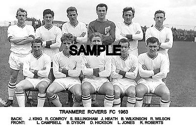 Tranmere Rovers FC 1963 Team Photo