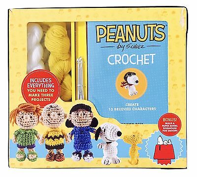 1X Kristen Rask Peanuts Themed Crochet Set Charlie Brown Snoopy Woodstock + MORE