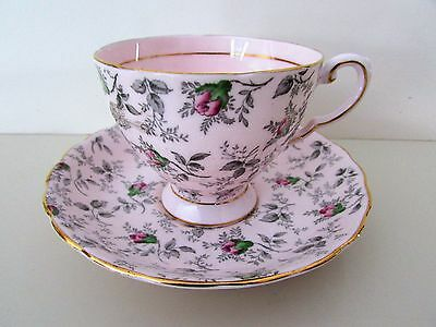 Tuscan English Bone China Tea Cup & Saucer Pink With Roses