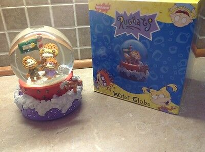 RARE Rugrats At The North Pole Musical Snow Globe , EUC Plays Let It Snow