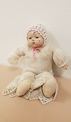 metal head baby doll with cloth body 16""