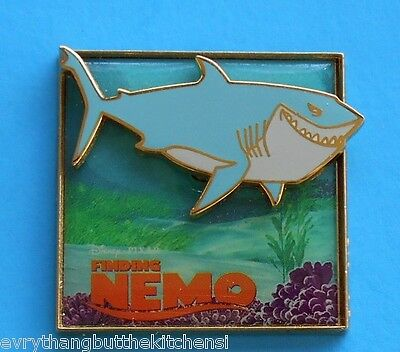 Disney Pixar Finding Nemo Bruce The  Shark 2005 Glossy Pin-On-Pin Pp# 22259