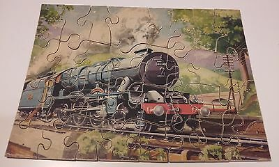 Vintage Royal Scot Train Engine 46146 Wooden Jigsaw Puzzle Complete 32 Pieces