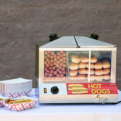 NEW 100 Dog / 48 Bun Concession Stand Electric Hot Dog Steamer 177HDS100