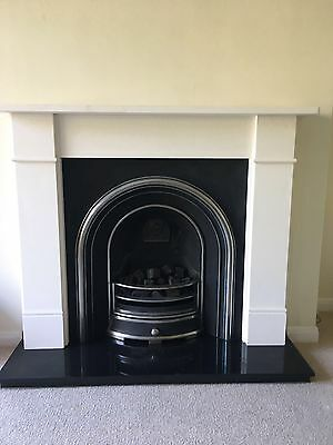 Manual Gas Fire With Stone Surround + Granite Hearth