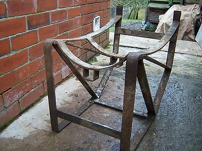 Vintage Slingsby Industrial Stand - Whiskey Barrel / Bomb Cradle ? - Steam Punk