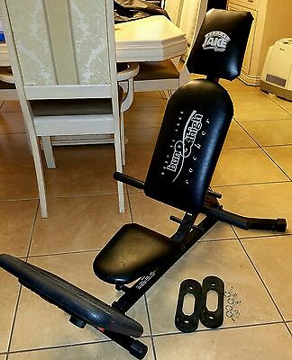 BODY BY JAKE BUN & THIGH ROCKER EXERCISE MACHINE w/ 10 & 25 pd BANDS Excellent