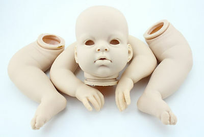 """27"""" Unfinished Reborn Baby Doll Kits Head Arms Legs Baby DIY Doll Silicone Model"""