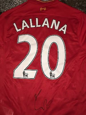 Signed Adam Lallana Liverpool Shirt 16/17 Proof * See Him Sign * England