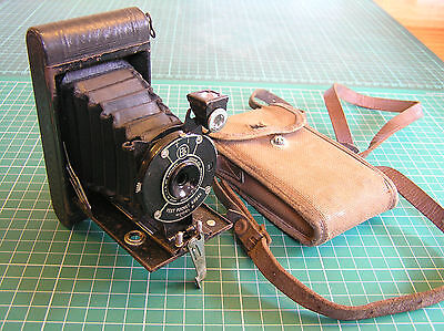 Vintage Vest Pocket Kodak Model B Folding Camera Canvass Case & Film