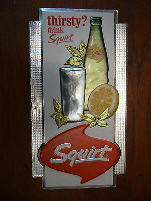 1966 Thirsty Drink Squirt Cardboard Sign