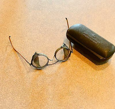 Vtg Industrial Steampunk American Optical AO Safety Goggles Glasses Mesh Sides
